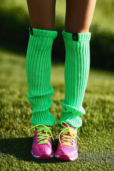 Женские спортивные гетры Green, фото №1 - Designed For Fitness