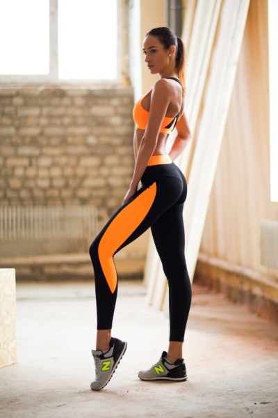 Комплект Basic Orange (топ+леггинсы), фото №1 - Designed For Fitness