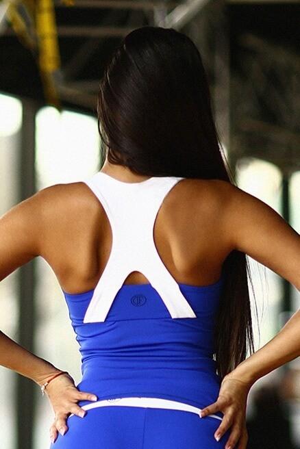 Топ Basic Blue (удлиненный) - Designed For Fitness
