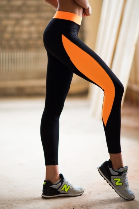 Леггинсы Basic Orange, фото №1 - Designed For Fitness