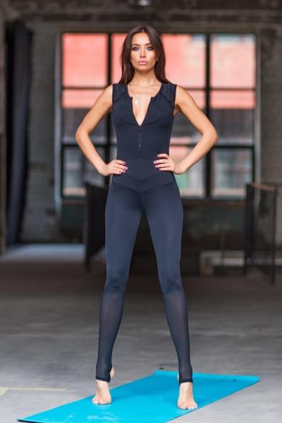 Комбинезон Yoga Total Black, фото №1 - Designed For Fitness