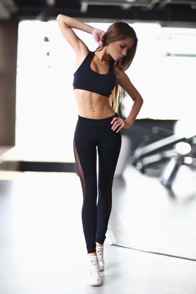 Комплект Black Net Basic Black (топ+лосины), фото №1 - Designed For Fitness