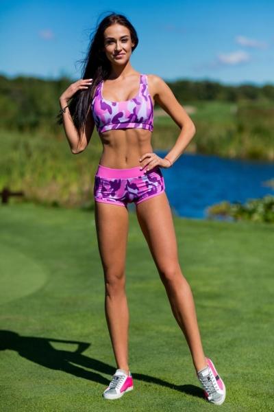 Комплект Como Pink (топ+шорты), фото №1 - Designed For Fitness