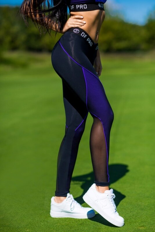 Лосины Pro High Waist Violet, фото №1 - Designed For Fitness
