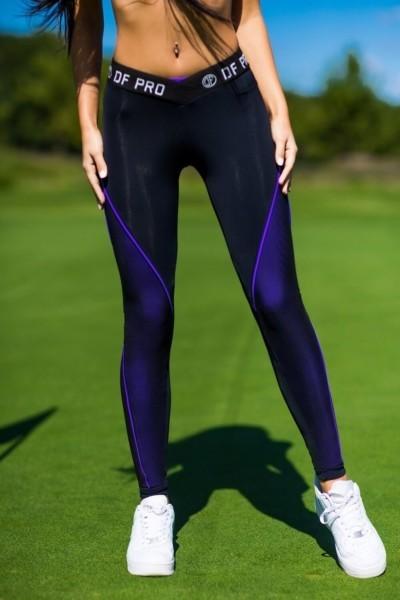 Лосины Pro High Waist Violet, фото №1 - Designed For Fitness