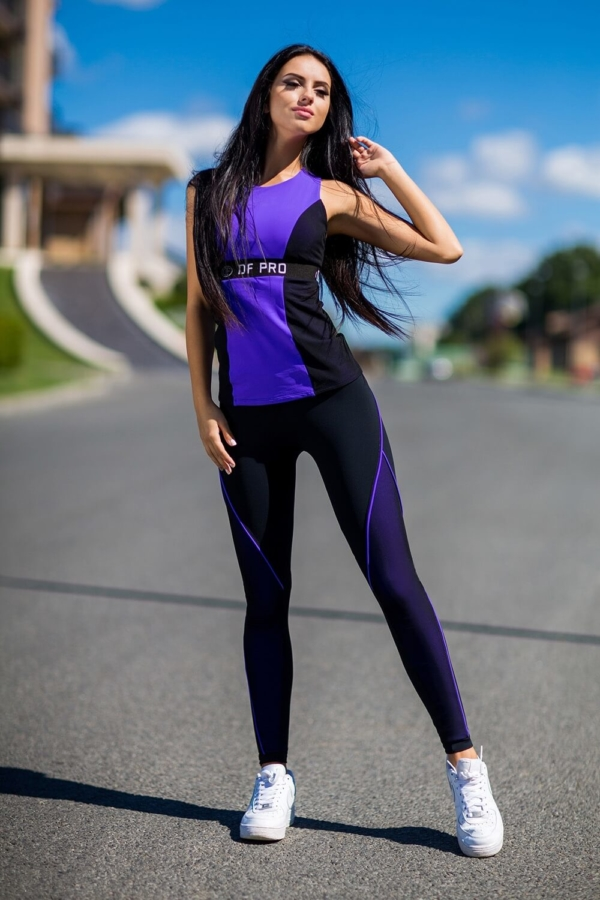 Комплект Pro Violet Long (топ+лосины), фото №1 - Designed For Fitness