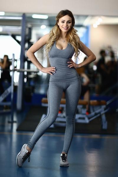 Комплект Pro Fitness Grey (топ+лосины), фото №1 - Designed For Fitness