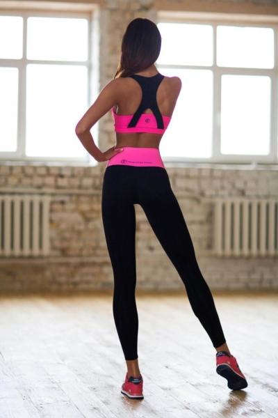 Комплект High Waist Pink (топ+лосины), фото №1 - Designed For Fitness