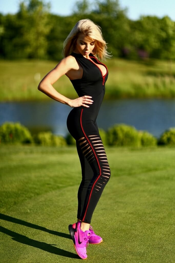 Комбинезон Zipper Stripes with Red - Designed For Fitness