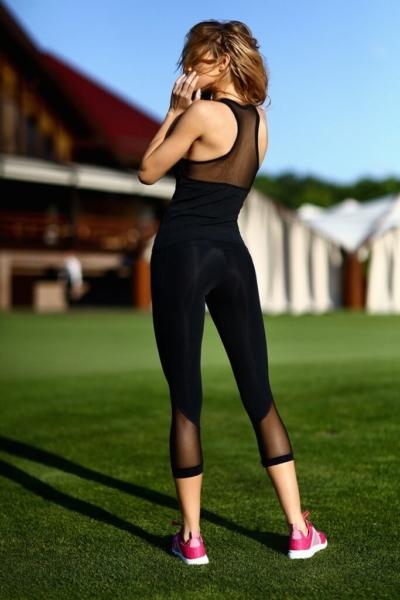 Комплект Black Net Long (топ+бриджи), фото №1 - Designed For Fitness