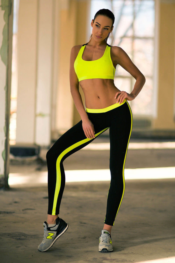 Комплект Basic Lemon Low Rise Leggings (топ+лосины) - Designed For Fitness