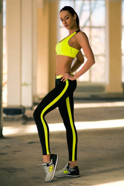 Комплект Basic Lemon Low Rise Leggings (топ+лосины), фото №1 - Designed For Fitness
