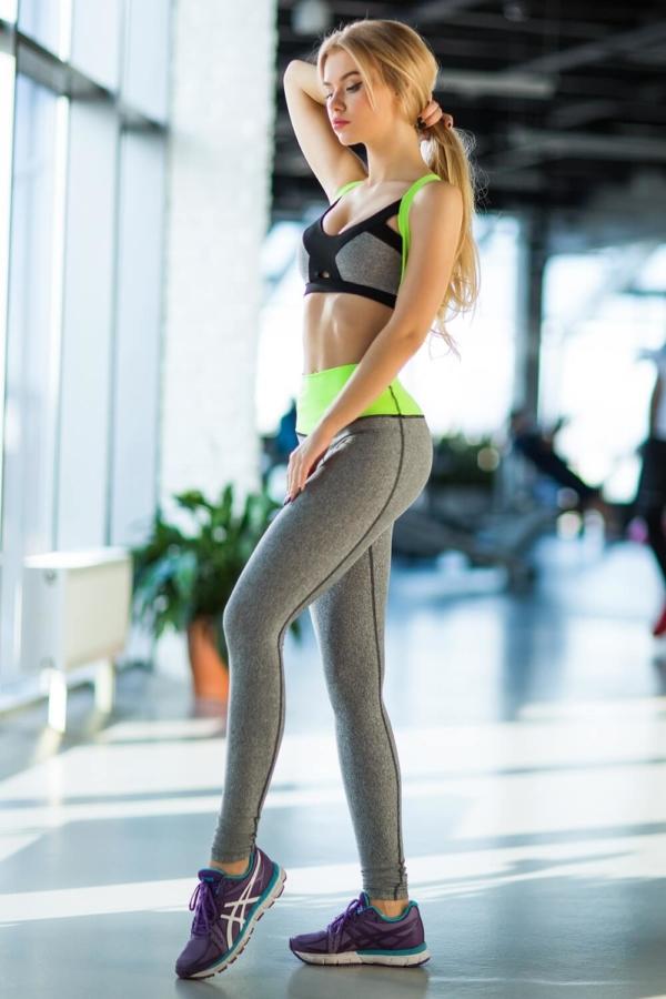 Комплект PRO Jersey Green (топ+лосины) - Designed For Fitness