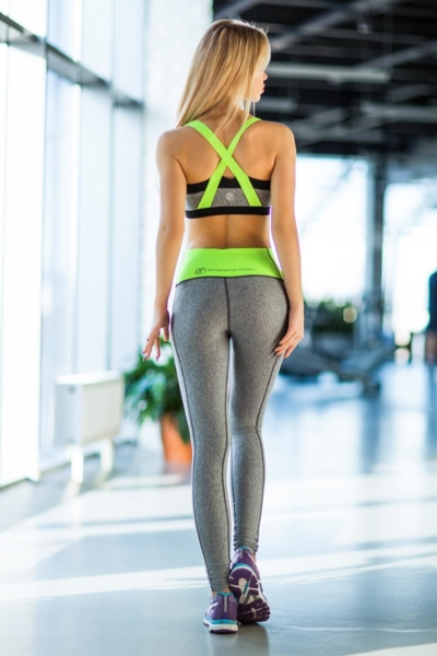 Комплект PRO Jersey Green (топ+лосины), фото №1 - Designed For Fitness
