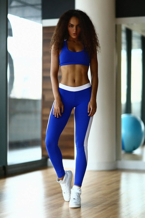 Комплект Basic Blue (топ+лосины), фото №1 - Designed For Fitness