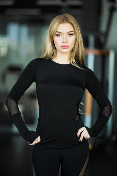Рашгард Basic Black, фото №1 - Designed For Fitness