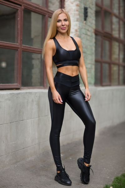 Комплект Disco Black (топ+лосины), фото №1 - Designed For Fitness