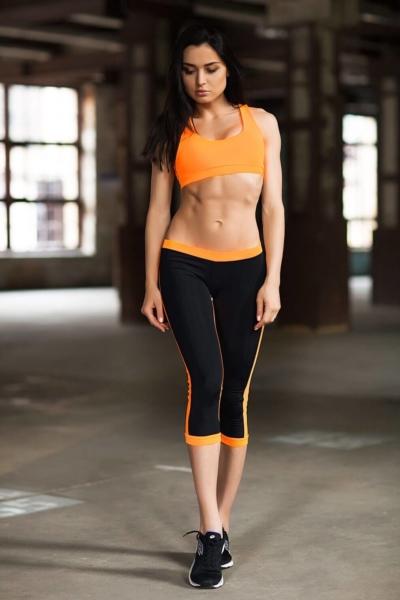 Комплект Basic Orange (топ+бриджи), фото №1 - Designed For Fitness