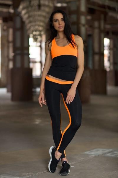 Комплект Basic Orange Low-Rise (топ+леггинсы), фото №1 - Designed For Fitness