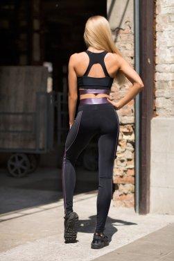 Комплект Disco Violet (топ+лосины) - женская спортивная одежда Designed For Fitness