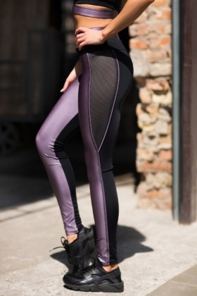 Леггинсы Disco Violet, фото №1 - Designed For Fitness