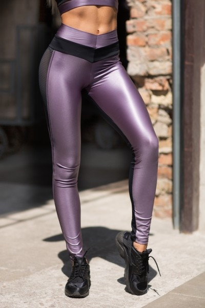 Леггинсы Disco Violet, фото №1 - Designed For Fitness