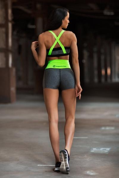 Комплект PRO Jersey Green (топ+шорты), фото №1 - Designed For Fitness