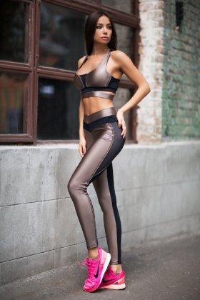 128a05b42947 ... Костюм для фитнеса Disco Nude (топ+лосины) - женская спортивная одежда  Designed For