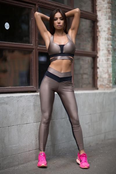 Комплект Disco Nude (топ+лосины), фото №1 - Designed For Fitness