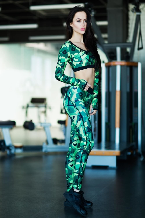 Лосины Geometric Green - Designed For Fitness