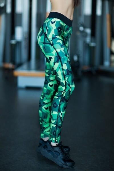 Лосины Geometric Green, фото №1 - Designed For Fitness