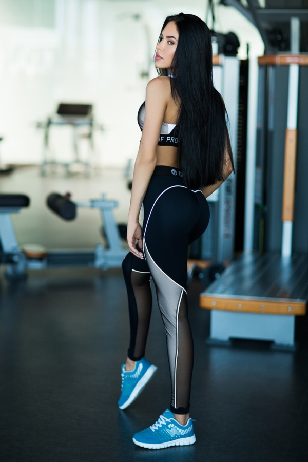Комплект Pro White Bra (топ+лосины) - Designed For Fitness