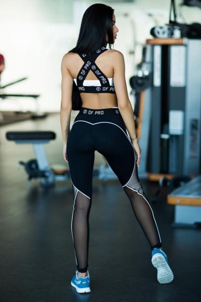 Костюм для фитнеса Pro White Bra (топ+лосины), фото №1 - Designed For Fitness