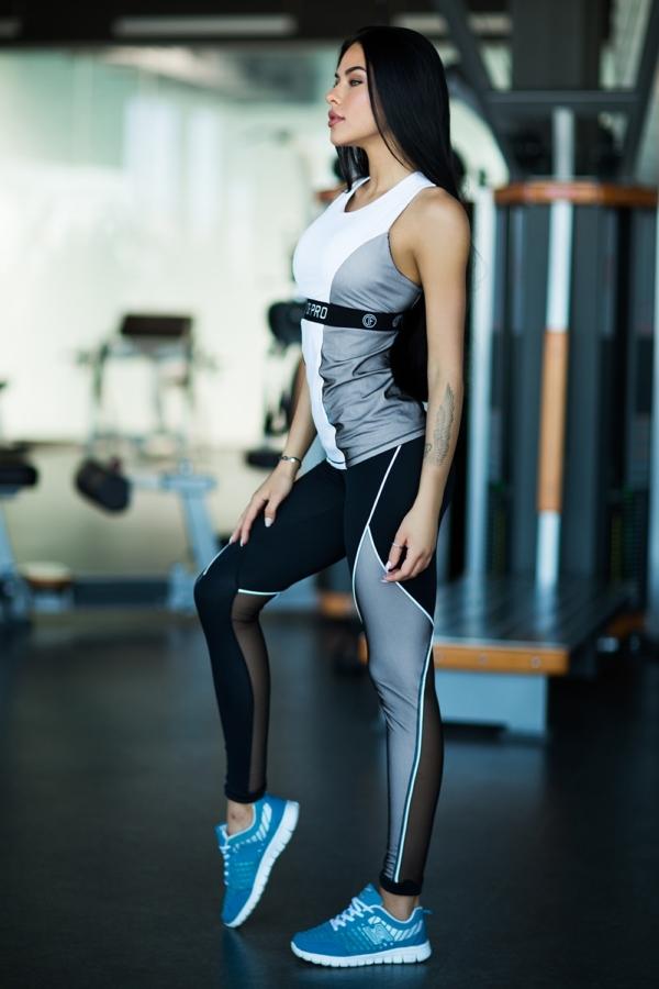 Комплект Pro White (топ+лосины) - Designed For Fitness