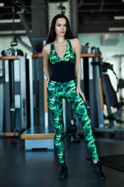 Комбинезон Geometric Green, фото №1 - Designed For Fitness