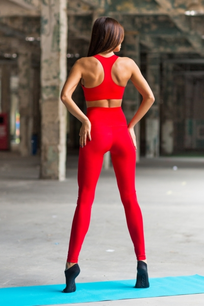 Комплект Red Corset (топ+лосины), фото №1 - Designed For Fitness