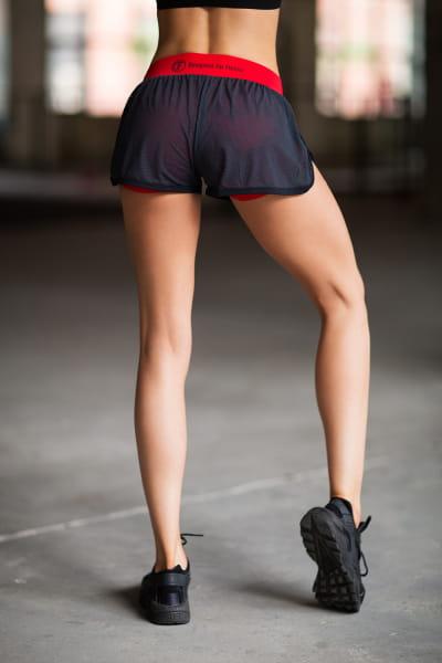 Шорты Paris Mesh in Red, фото №1 - Designed For Fitness