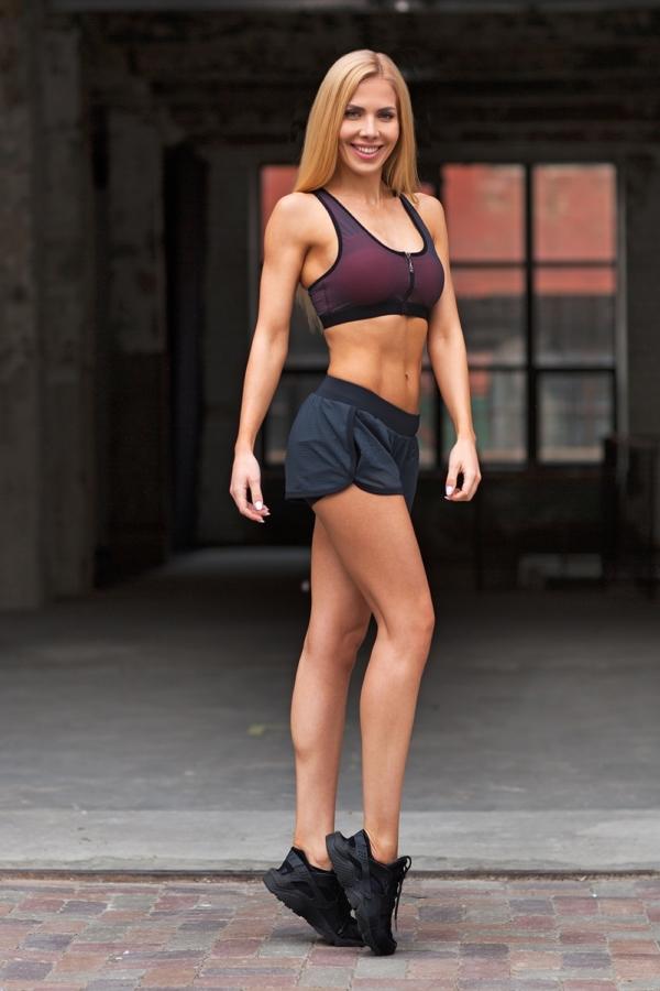 Комплект Paris Mesh in Black (топ+шорты) - Designed For Fitness