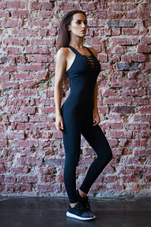 Комбинезон Black Corset - Designed For Fitness