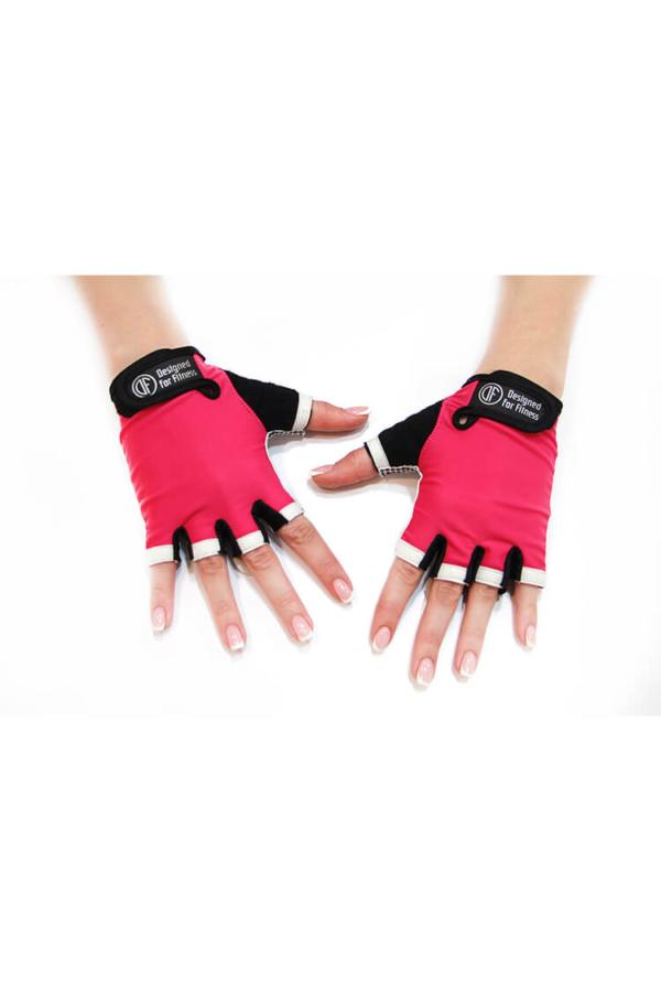 Женские перчатки для фитнеса White N Pink - Designed For Fitness