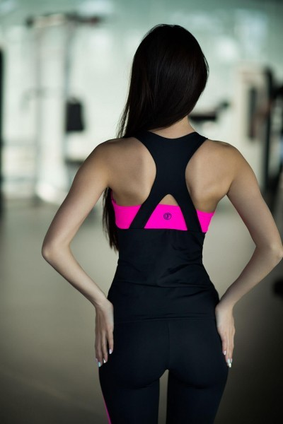Комплект Basic Pink (топ+лосины), фото №1 - Designed For Fitness