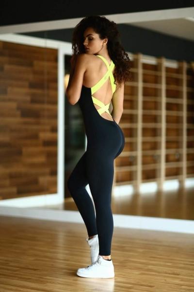 Комбинезон Black N Lemon DF, фото №1 - Designed For Fitness