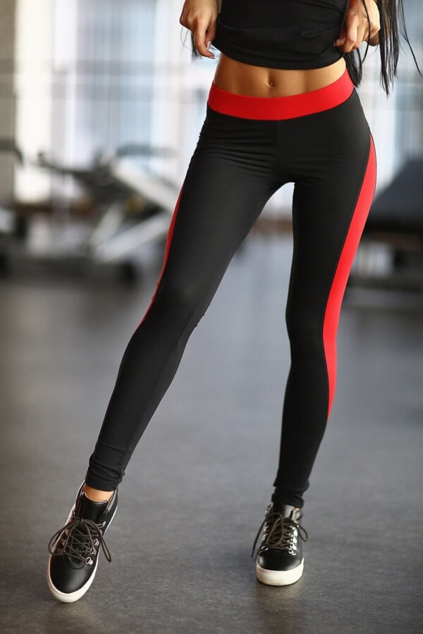 Леггинсы Basic Red, фото №1 - Designed For Fitness