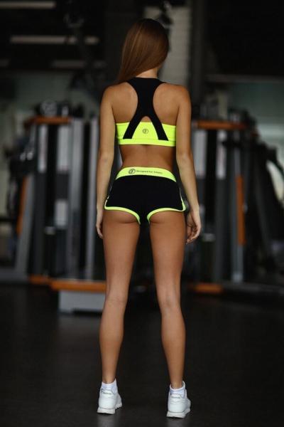 Комплект Basic Lemon (топ+шорты), фото №1 - Designed For Fitness