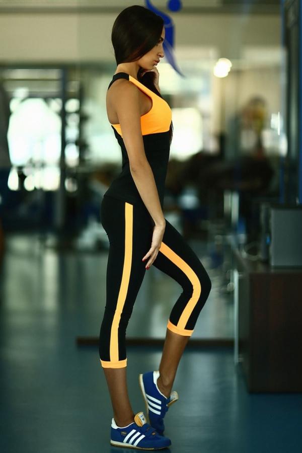 Комплект Basic Orange (топ+бриджи) - Designed For Fitness