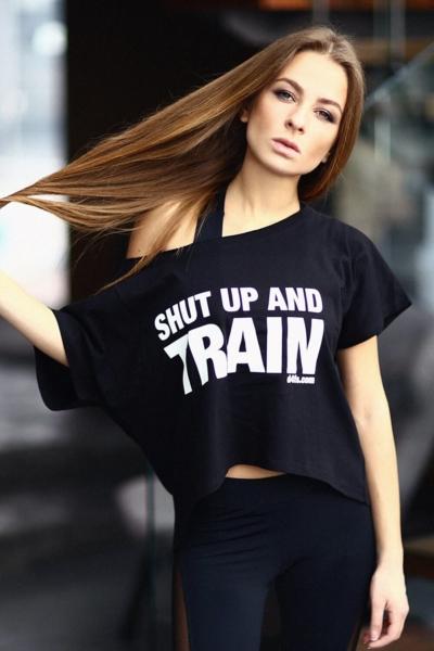 Футболка Shut Up, фото №1 - Designed For Fitness