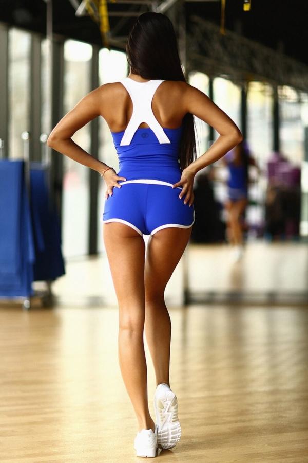 Комплект Basic Blue (топ+шорты) - Designed For Fitness