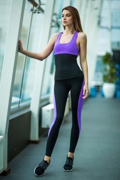 Комплект Basic Lavender (топ+лосины), фото №1 - Designed For Fitness