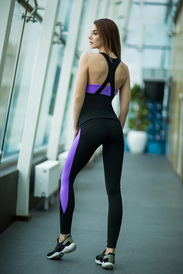 Комплект Basic Lavender (топ+лосины) - Designed For Fitness
