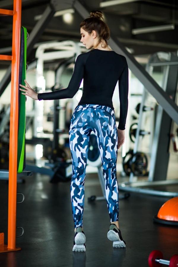 Комплект Como Grey (футболка+лосины) - Designed For Fitness